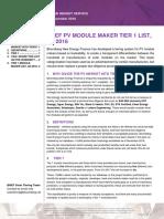 2016 11 30 Q4 2016 Company Ranking Tier 1 PV Module Makers