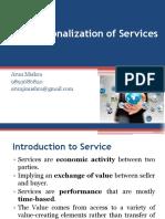 Internationalization of Services