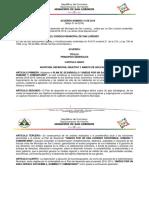 Acuerdo Plan de Desarrollo 2016-2019
