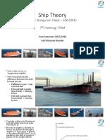 [7] Ship Theory - Longitudinal Stability