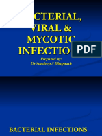 bacterial viral mycotic infections affecting oral cavity