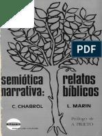 Chabrol, C. & Marin, L. Semiotica Narrativa. Relatos Biblicos. Ed Narcea,1975