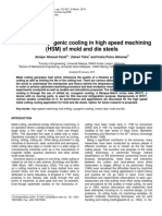 A review of cryogenic cooling in high speed machining (HSM) of mold and die steels