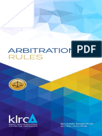 Arbitration Rules KLRCA