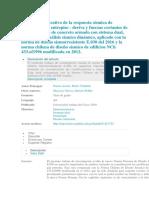 Análisis Comparativo de La Respuesta Sísmica de Distorsiones de Entrepiso