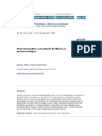 Psicossomatica Um Estudo Historico e Epistemologico