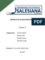 Modelado de un plan Estratégico de Gestión