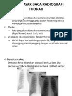 Radiologi Thorax & Bronkhitiss