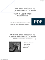 Tema 3. Los Ritmos Biologicos Unidad 2.