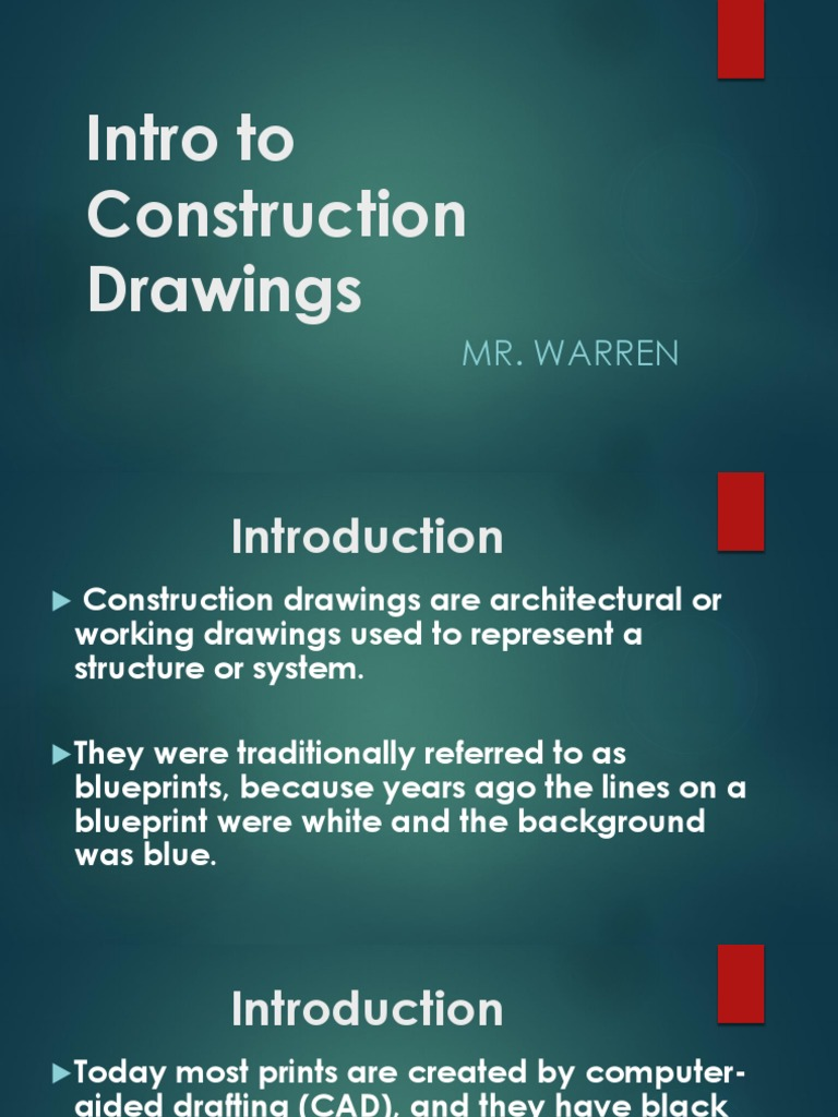 Intro to Construction Drawings NCCER pptx | Hvac | Plumbing