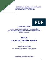 Inconstitucionalidad Por Omisión Autor Ivan Castro Patiño