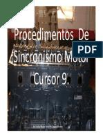 Procedimentos de Sincronismo Motor Cursor 9