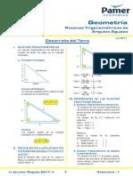 Trigonométricas_Razones Trigonométricas de Ángulos Agudos