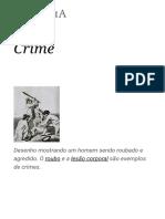 Crime – Wikipédia, A Enciclopédia Livre