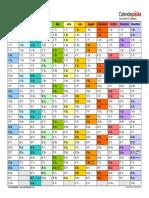 Calendar 2018 Landscape in Colour