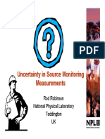 Uncertainty in Source Monitoring Measurements