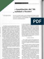 La Constitucion Del 38 Realidad o Ficcion