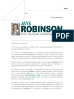 Councillor Jaye Robinson's Fall 2017 eNewsletter
