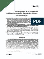 Sellés - La prosecución Aristotélica de la doctrina del Intelecto Agente en los filósofos del siglo XIII.pdf