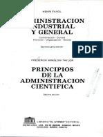 Principios y Elementos de Administración, Henri Fayol