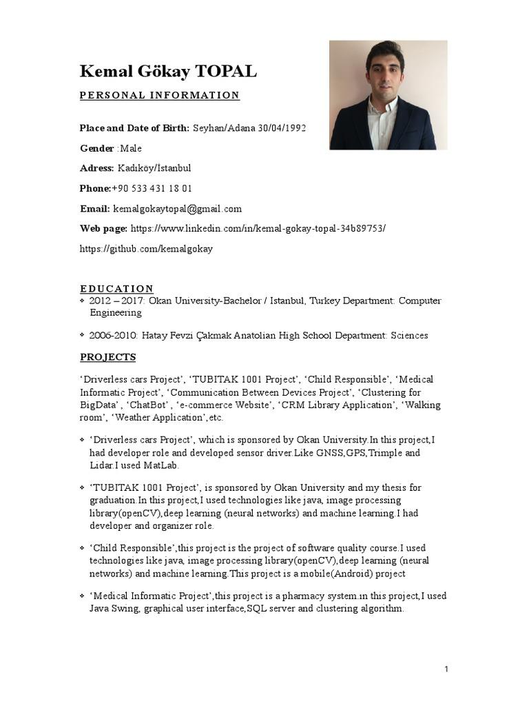 Cv | Application Software | Java (Programming Language)