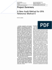 A New Audit Method for Epa Referencer Method 6