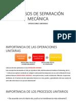 Procesos de Separación Mecánica