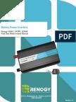 500W 1000W 2000W Pure Sine Wave Battery Inverter Manual