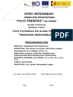 Programación Didáctica Subestaciones Eléctricas