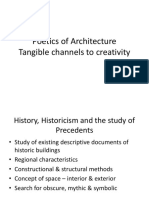 Poetics of Architecture - Tangible