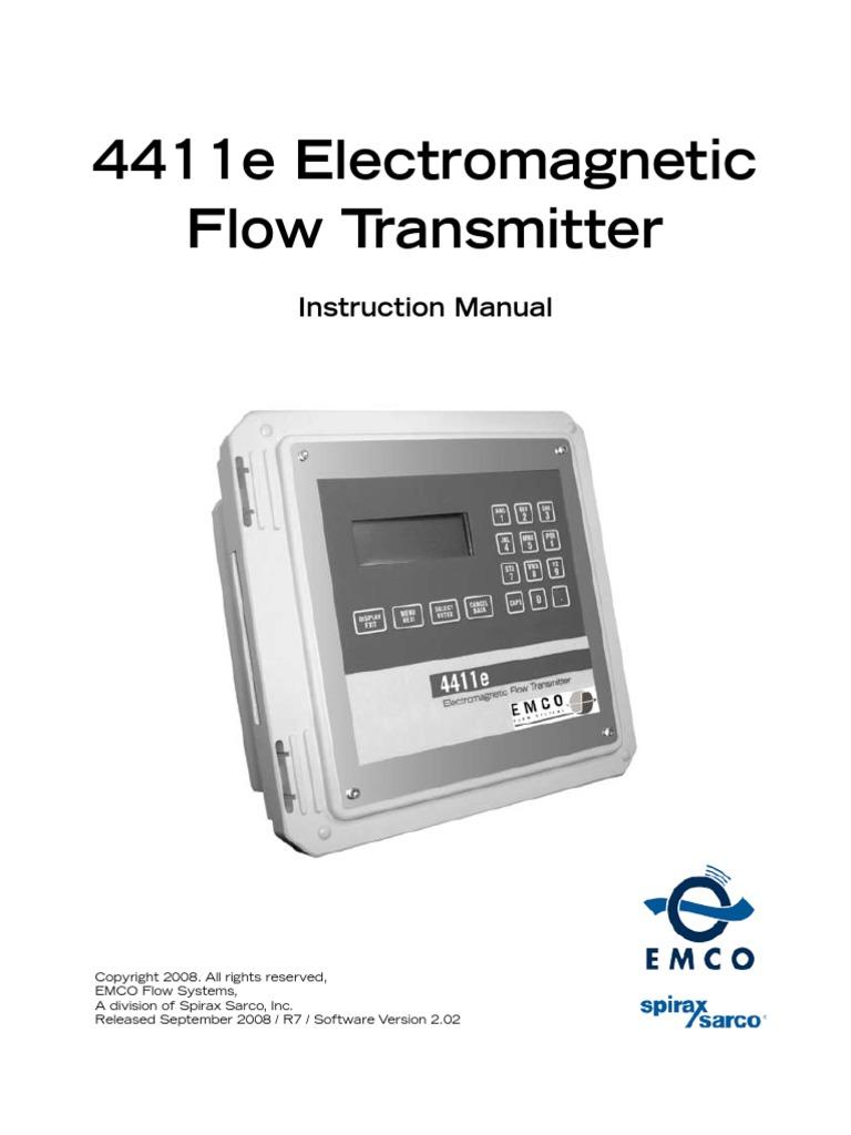 4411e electromagnetic flow transmitter instruction manual pdf.