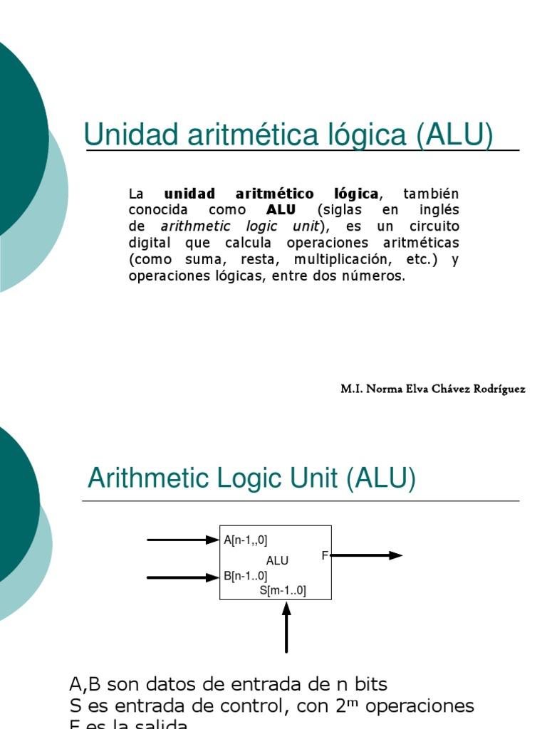Alupdf Arithmetic Logic Unit Diagram