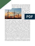 Energía Eólica Es La Energía Obtenida Del Viento