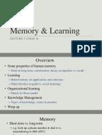 6. Memory & Learning (Lec. 5, Chap. 6) 2