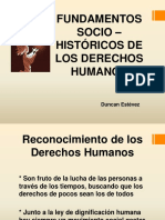 FUNDAMENTOS SOCIO-HISTÓRICOS DERECHOS HUMANOS