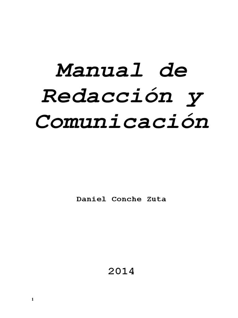 Manual de Redaccion y Comunicacion