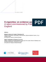 Ecigarettes an Evidence Update a Report Commissioned by Public Health England FINAL