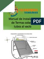 Manual de Instalacion de Terma Solar