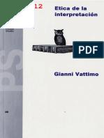 G. Vattimo- Ética de La Interpretación (1991)