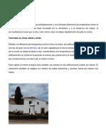 Influencia Del Clima en La Vivienda