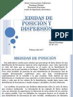 Medidas de Posicion y Dispercion