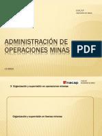 3 ADM OP MINA Organización