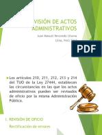 La Revisón de Actos Administrativos (1)