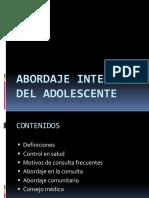 Atencion Integral Del Adolescente