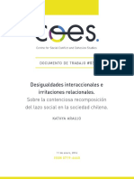 Araujo, Kathya (2016). Desigualdades Interaccionales e Irritaciones Relacionales [Documento de Trabajo#3]