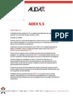 ADEX 5.5 Usos y Aplicaciones