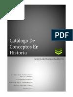 Catálogo de Conceptos en Historia