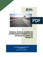 2008 Manual para el diseño de caminos PAVIMENTADOS bajo volumen de transito