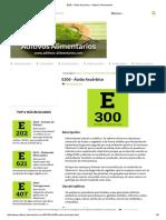 E300 - Ácido Ascórbico - Aditivos Alimentarios