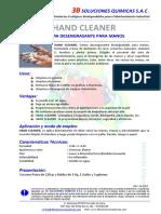 Ficha Tecnica Hand Cleaner